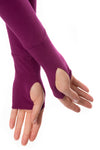 Hard Tail Forever - Cotton Lycra Long Sleeve W/Thumbhole (SL-143, Boysenberry) alt view 4