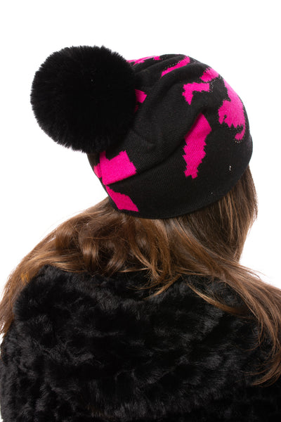 Haute Shore - Colorado Beanie Faux Fur (colorado beanie faux, Black & Pink) alt view 1