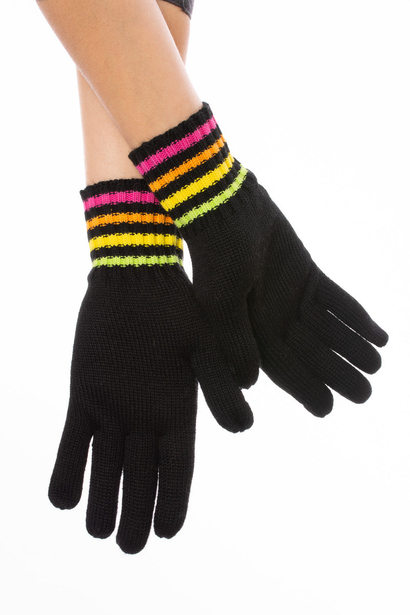Haute Shore - Full Glove W/Texting Fingers  (texting, Black & Neon)