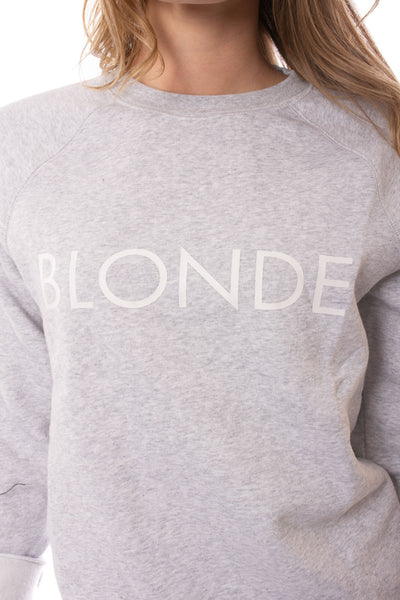 Brunette The Label - Blonde Sweatshirt (BTL0420, Heather Gray) alt view 3