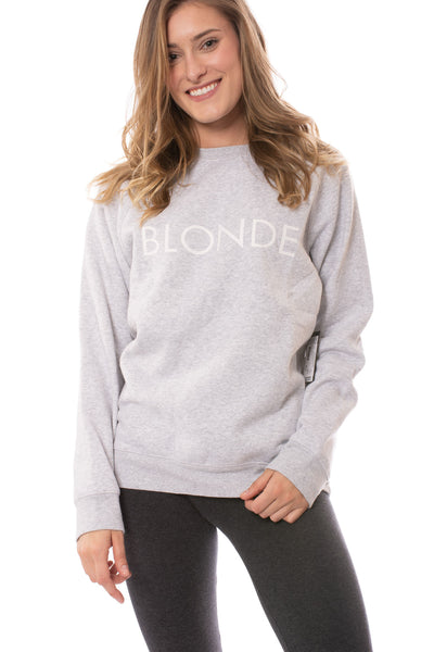 Brunette The Label - Blonde Sweatshirt (BTL0420, Heather Gray) alt view 4