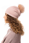 Haute Shore - Brooklyn Beanie W/Pom-Pom (brooklyn beanie, Blush)