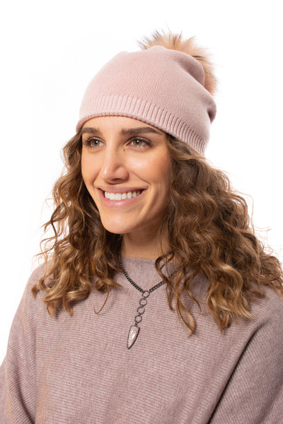 Haute Shore - Brooklyn Beanie W/Pom-Pom (brooklyn beanie, Blush) alt view 2