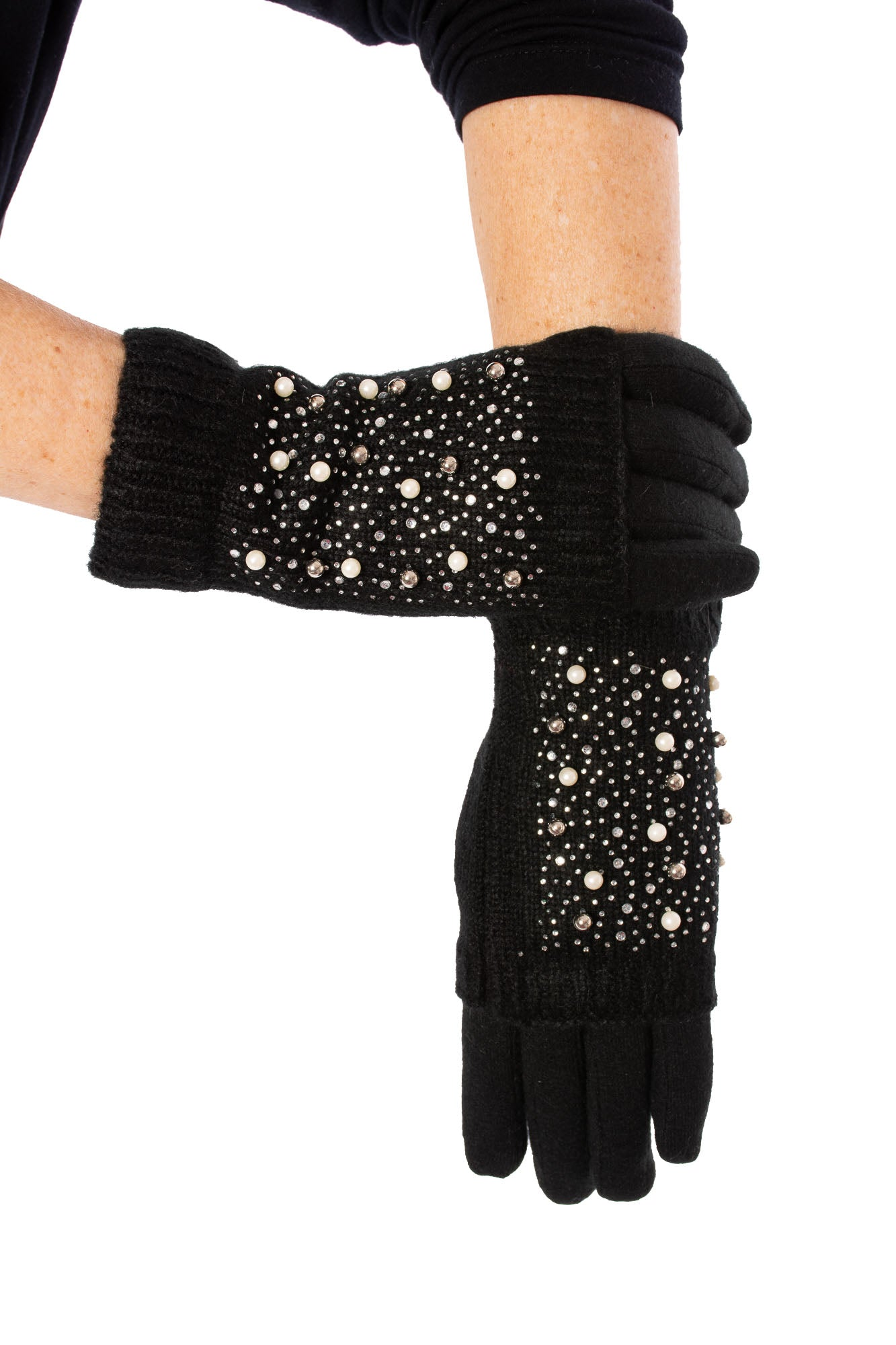 Pia Rossini - Two In One Glove w/Perl Trim (KRISTENGLOVE, Black)