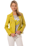 Mauritius - Pasja Lamb Leather Jacket (PASJA, Dark Yellow)