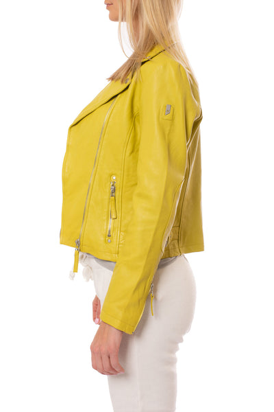 Mauritius - Pasja Lamb Leather Jacket (PASJA, Dark Yellow) alt view 1