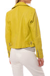 Mauritius - Pasja Lamb Leather Jacket (PASJA, Dark Yellow) alt view 2
