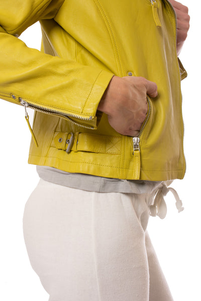 Mauritius - Pasja Lamb Leather Jacket (PASJA, Dark Yellow) alt view 4