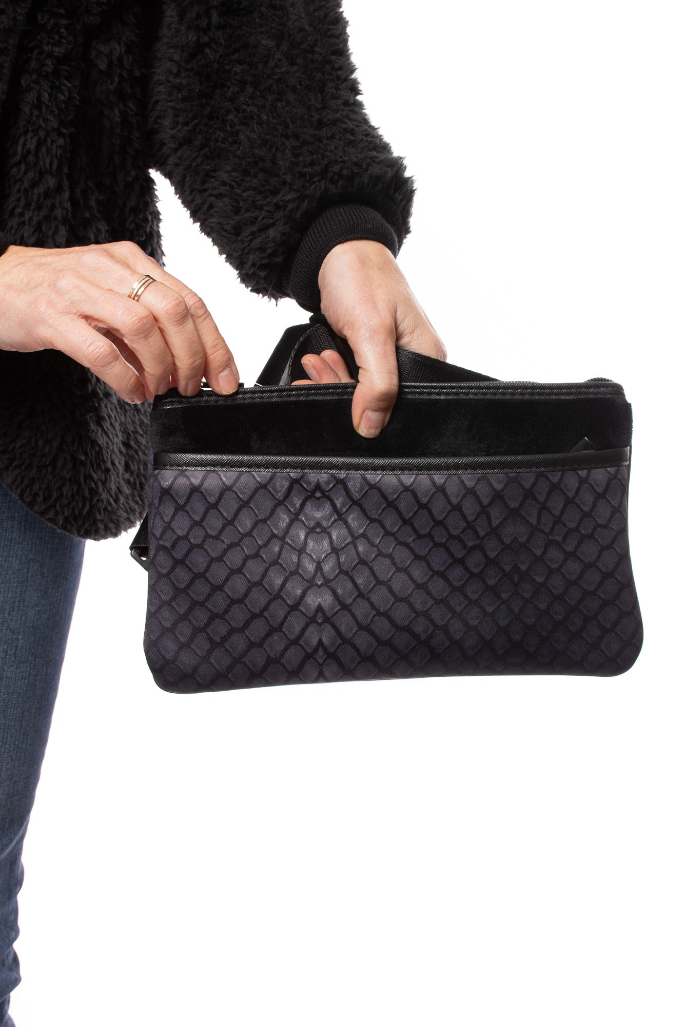 Haute Shore - Dylan Belt Bag (Dylan, Black Gator Skin)