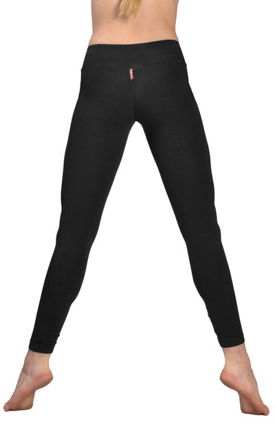 Flat Waist Ankle Legging (Style W-452, Black) by Hard Tail Forever alt view 1