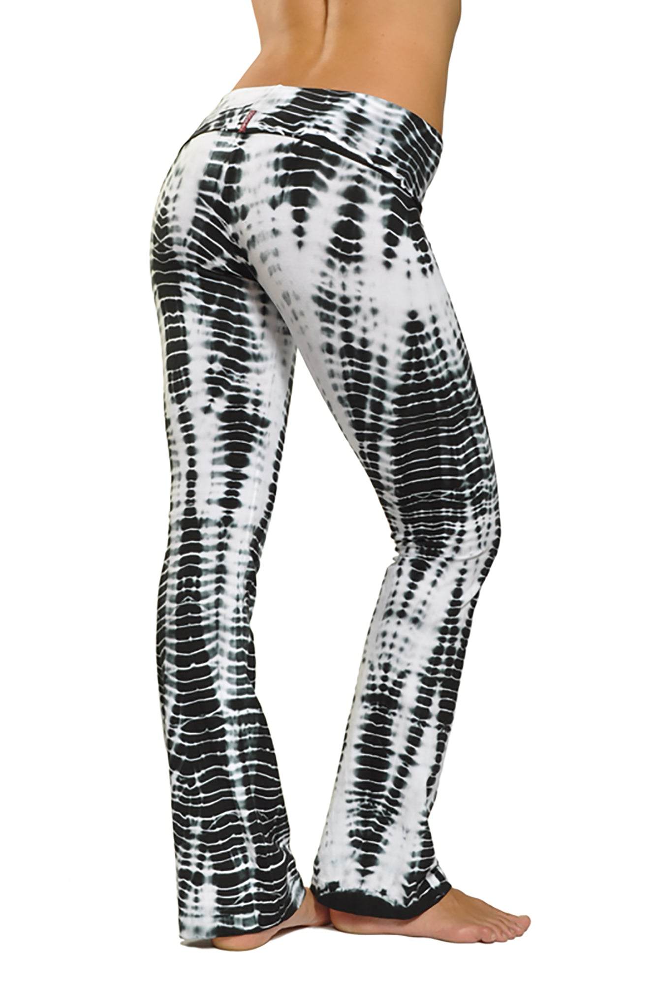 Hard Tail Forever - Contour Roll Down Boho Bell Bottom Flare Pant (W-598, Alligator Tie-Dye)