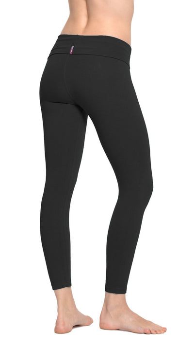 Rolldown Layered Legging (Style 588, Black) by Hard Tail Forever alt view 1