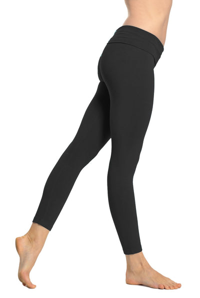 Rolldown Layered Legging (Style 588, Black) by Hard Tail Forever alt view 2