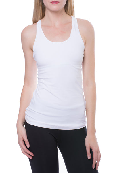 U Scoop Swimmer's Tank (Style W-396, White) by Hard Tail Forever alt view 1