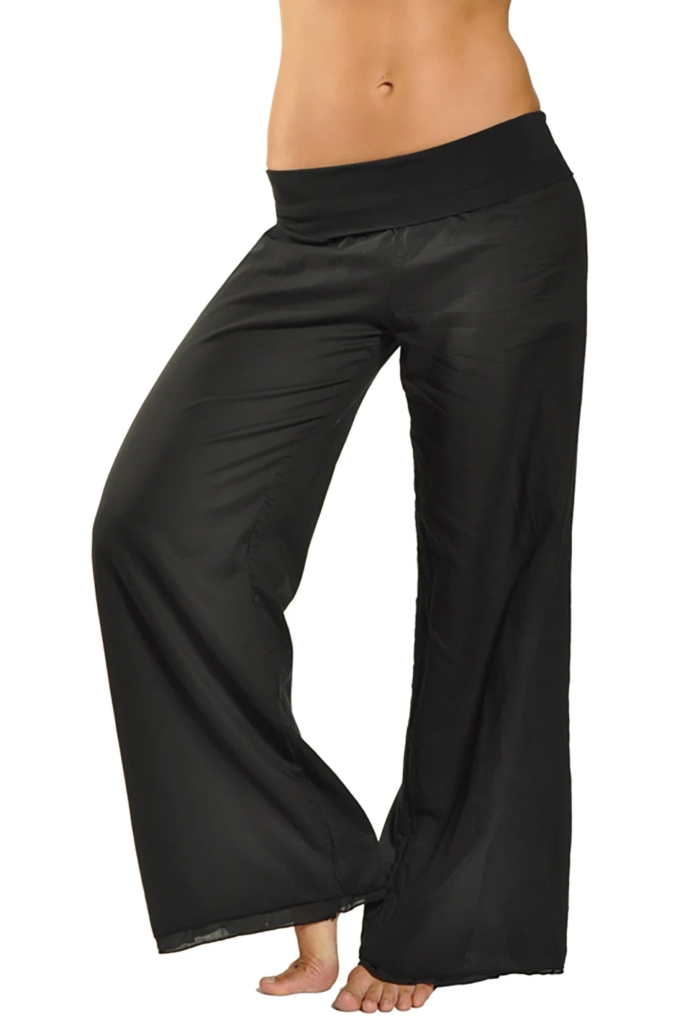 Hard Tail forever - Double Layered Voile Pant (VL-29, Black)