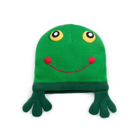 Smiling Frog Baby Knit Hat