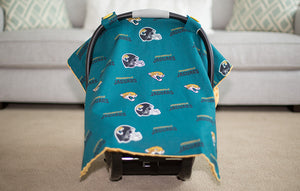 Jacksonville Jaguars - 2 in 1 Baby Car Seat Canopy and Breast Feeding Nursing Cover