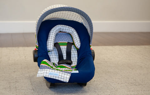 Lawrence - Carseat Canopy 5 Pc Whole Caboodle Baby Infant Car Seat Cover Kit with Minky Fabric