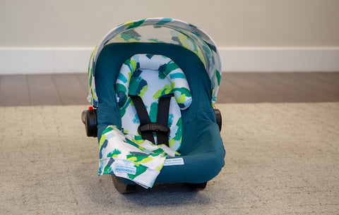 Dylan - Carseat Canopy 5 Pc Whole Caboodle Baby Infant Car Seat Cover Kit with Minky Fabric