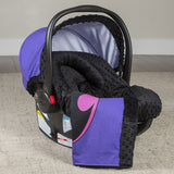 Batgirl - Carseat Canopy 5 Pc Whole Caboodle Baby Infant Car Seat Cover Kit with Minky Fabric