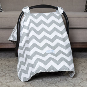 Chevy - 2 in 1 Baby Car Seat Canopy and Breast Feeding Nursing Cover