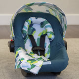 Dylan - Car Seat Canopy 5 Pc Whole Caboodle Baby Infant Car Seat Cover Kit with Minky Fabric