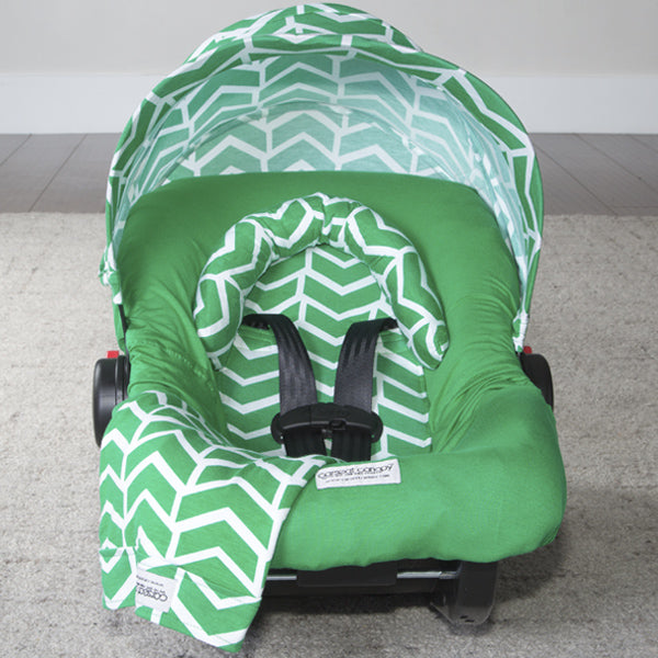 Ezra - Carseat Canopy 5 Pc Whole Caboodle Baby Infant Car Seat Cover Kit with Minky Fabric