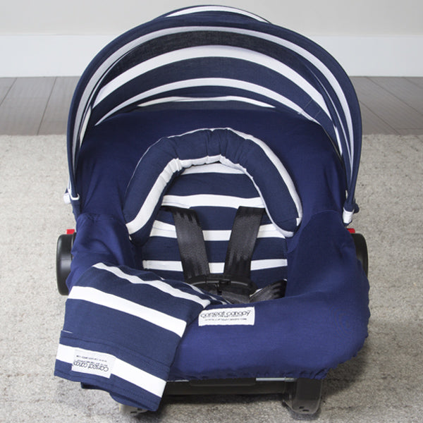 Lucas - Carseat Canopy 5 Pc Whole Caboodle Baby Infant Car Seat Cover Kit with Minky Fabric