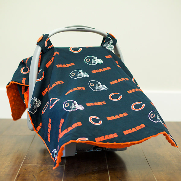 Chicago Bears - 2 in 1 Baby Car Seat Canopy and Breast Feeding Nursing Cover