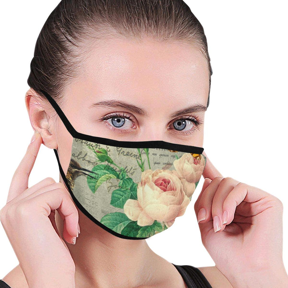 Retro Rose Hand-Made Fabric Face Mask