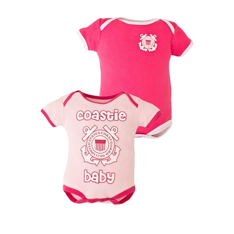 2pc Girls Coast Guard Bodysuits-justbabywear
