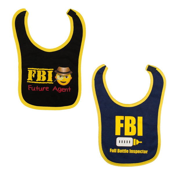 2pk FBI Bib Set-justbabywear