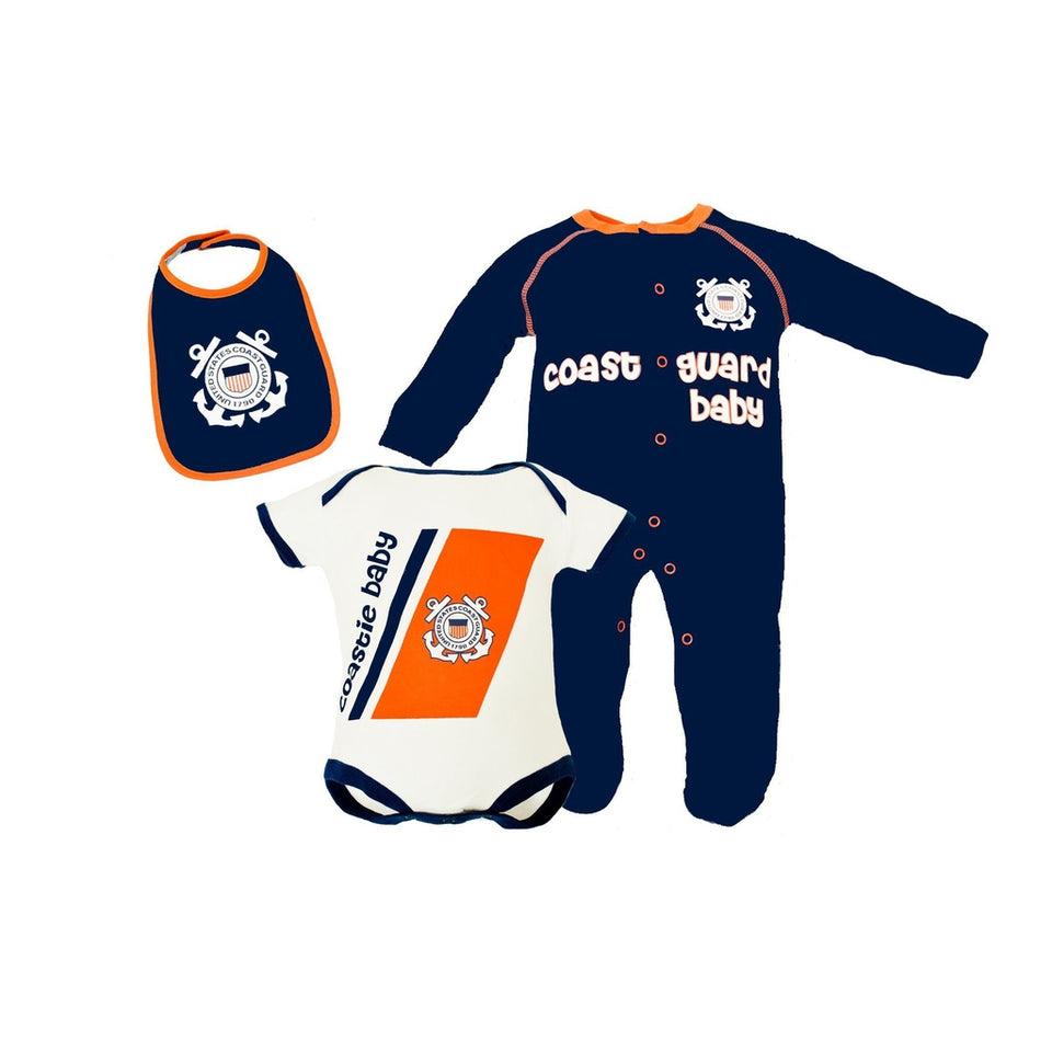 3pc Coast Guard Tiny Trooper Collection-justbabywear
