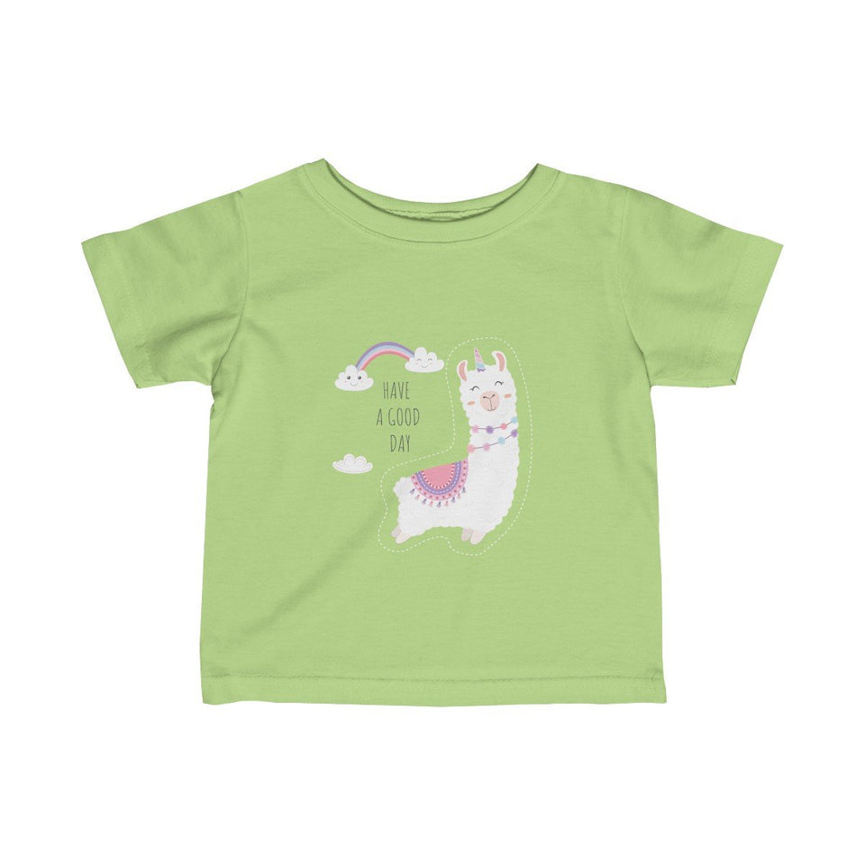 Baby Llama have a good day Infant Girls Tee