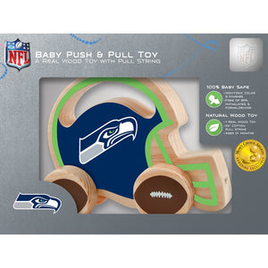 Seattle Seahawks Push & Pull Wooden Toy