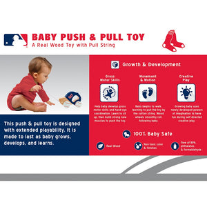 Boston Red Sox Push & Pull Wooden Toy