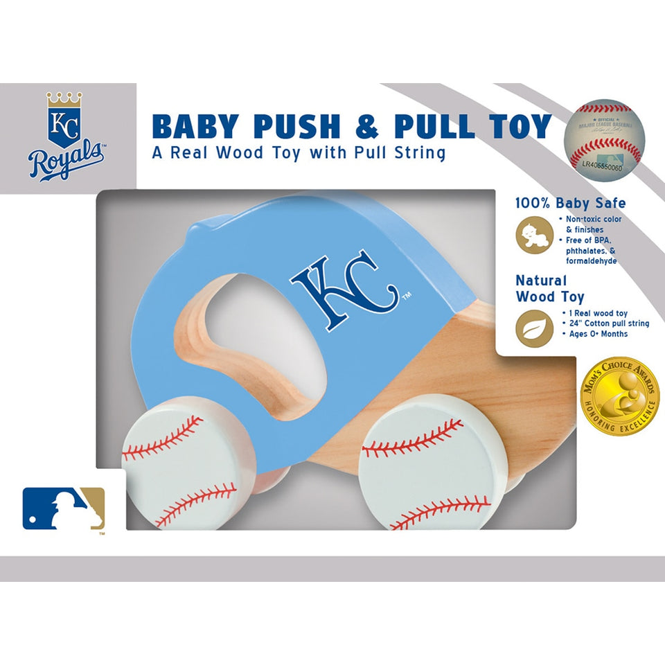 Kansas City Royals Push & Pull Wooden Toy