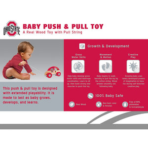 Ohio State Push & Pull Wooden Toy