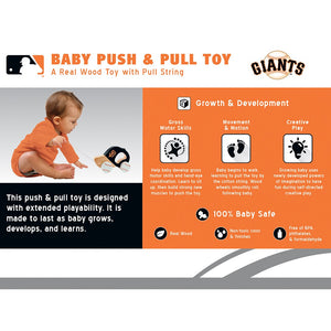 San Francisco Giants Push & Pull Wooden Toy