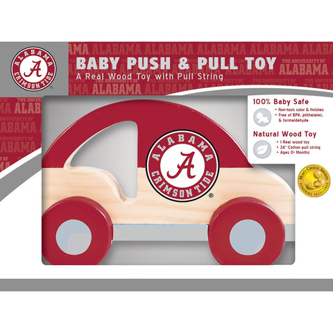 Alabama Crimson Tide Push & Pull Wooden Toy