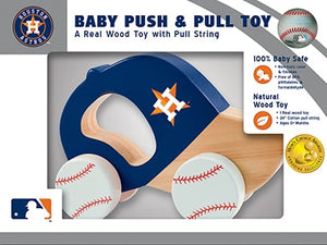 Houston Astros Push & Pull Wooden Toy