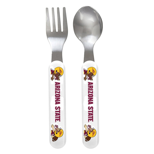 Fork & Spoon Set - Arizona State University-justbabywear