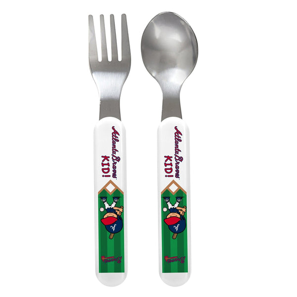 Fork & Spoon Set - Atlanta Braves-justbabywear