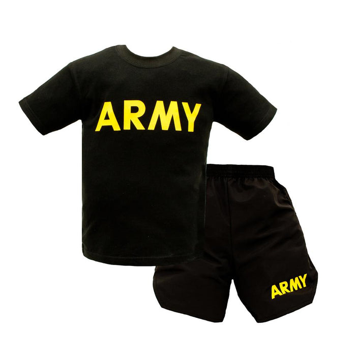 Army Kids PT Uniform Set in Black