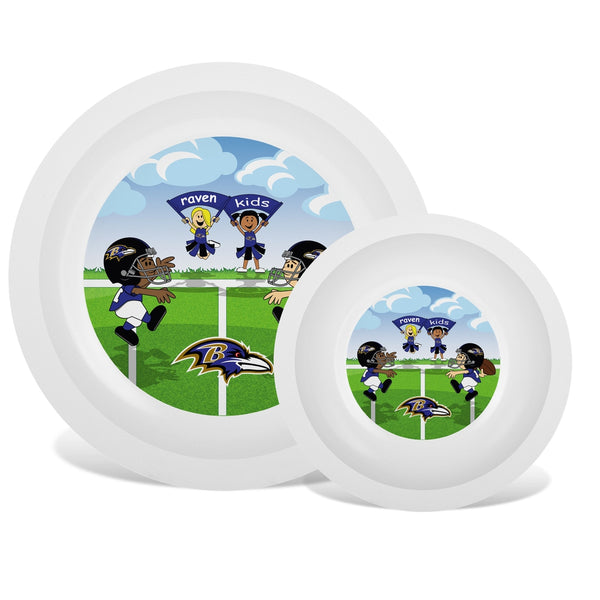 Plate & Bowl Set - Baltimore Ravens-justbabywear
