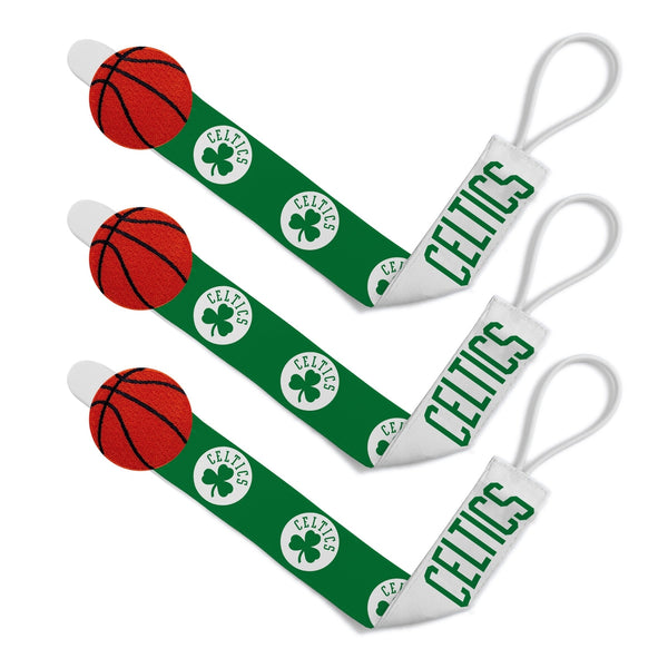 Pacifier Clip (3 Pack) - Boston Celtics-justbabywear