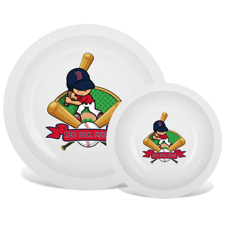 Plate & Bowl Set - Boston Red Sox-justbabywear