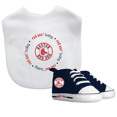 Bib & Prewalker Gift Set - Boston Red Sox-justbabywear