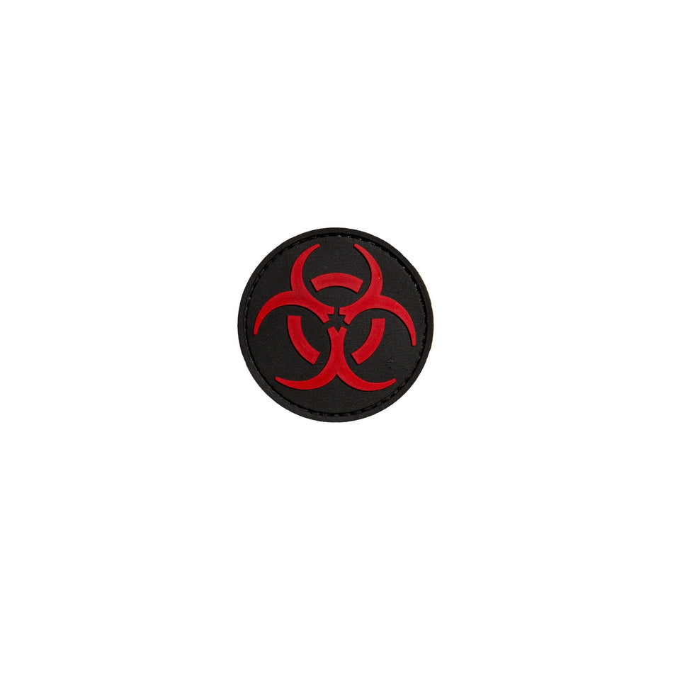 Red Biohazard PVC Patch