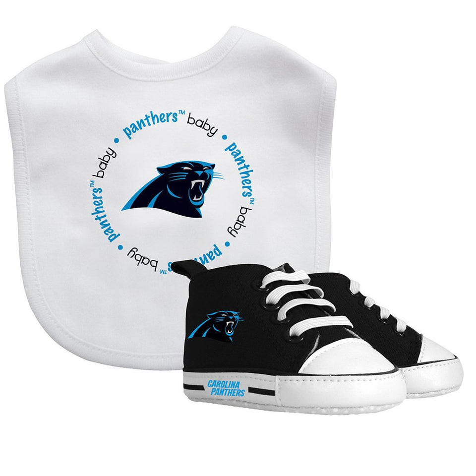 Bib & Prewalker Gift Set - Carolina Panthers-justbabywear
